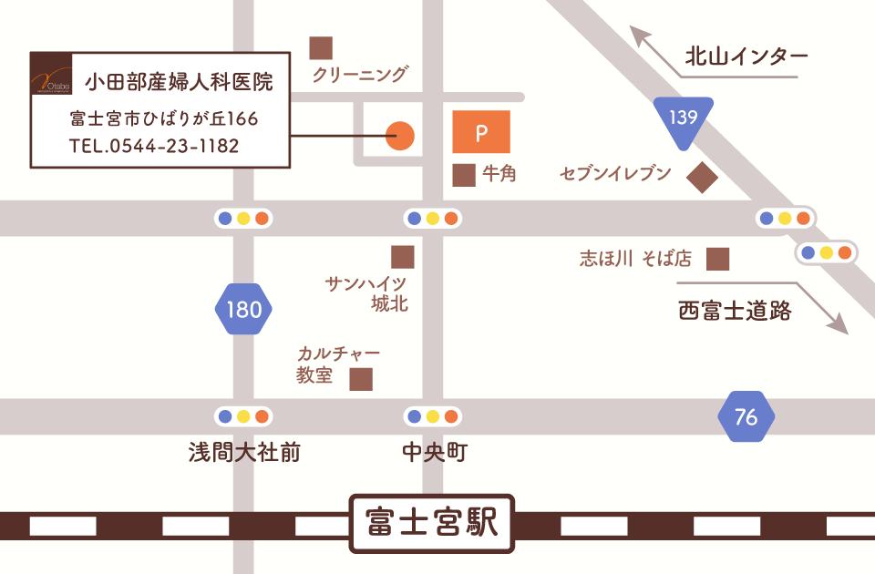 小田部産婦人科医院イラストマップ